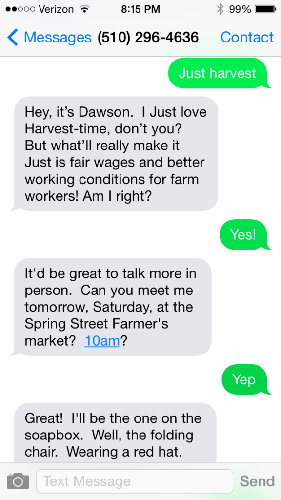 Just harvest text